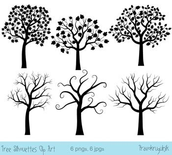 black tree silhouette clip art digital fingerprint tree