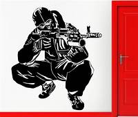 best army wall decals Hot Selling Room Wall Art Decor Wallpaper Special Sniper ...