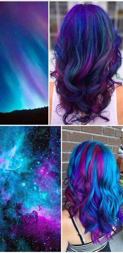 Best 25 Galaxy Hair Ideas On Pinterest