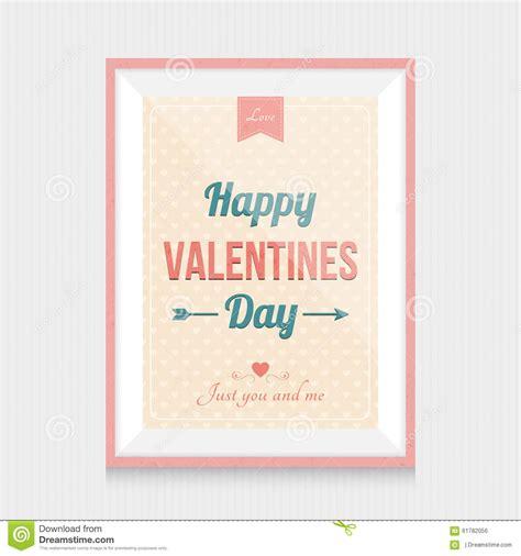 jour de carence cadre cadre de jour de valentines illustration de vecteur image 61782056