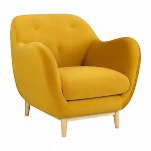 Melchior fauteuil en velours moutarde design by adrien for Fauteuil design moutarde