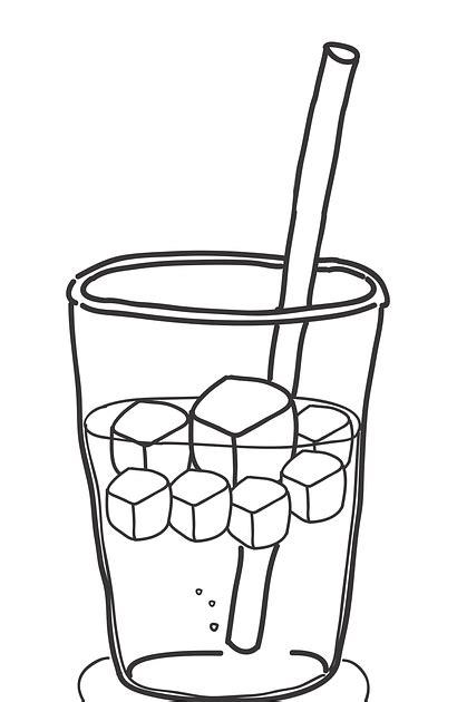 15 trend terbaru sketsa gambar minuman jus