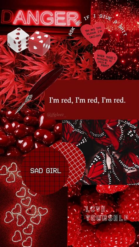 cute red aesthetic wallpapers wallpaper cave