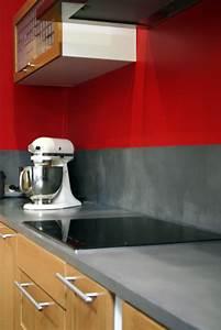 Béton Ciré Sur Plan De Travail Carrelé : plan de travail en beton brut maison design ~ Dailycaller-alerts.com Idées de Décoration