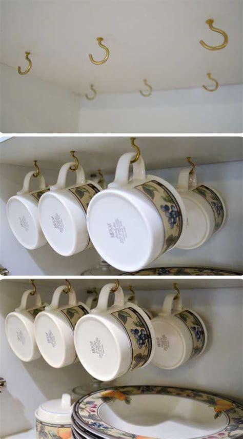 coffee cup rack under cabinet 13 brilliant diy mug racks you 39 ll have fun making