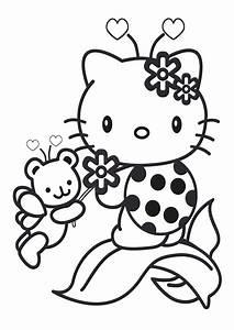 Ausmalbilder, Hallo, Kitty, Kostenlos