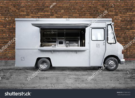 cuisines 3d 3d rendering food truck stock illustration 577891972