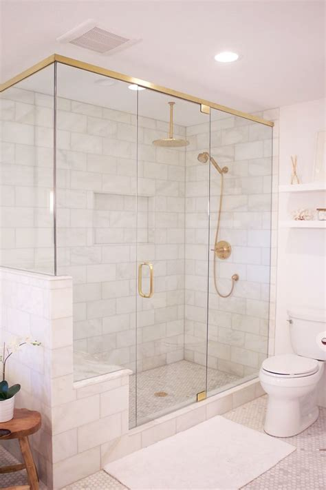 12 Awesome Marble In Shower Design Ideas by 18 Gorgeous Marble Bathrooms With Brass Gold Fixtures