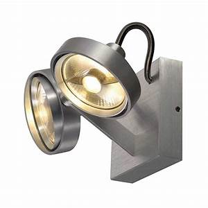 Projecteur Exterieur Double : spot alu bross moderne double fixer au mur ou au plafond ~ Edinachiropracticcenter.com Idées de Décoration