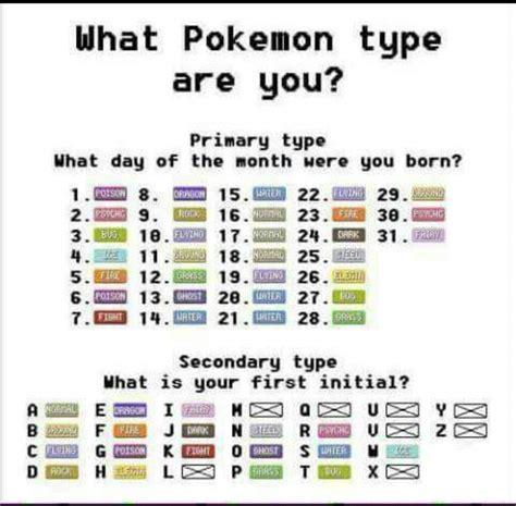 Which Pokemon Type Are You Pokmon Amino