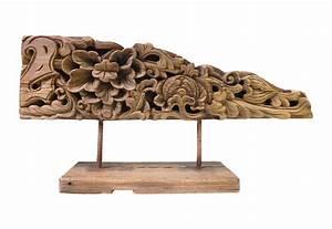 Vintage, Carved, Wood, Floral, Decorative, Object