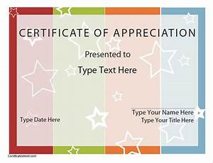 Blank Certificate Of Appreciation | New Calendar Template Site