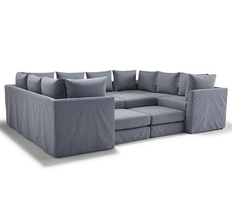 Mitchell Gold Slipcovers by Dr Pitt Slipcovered Sectional Mitchell Gold Bob