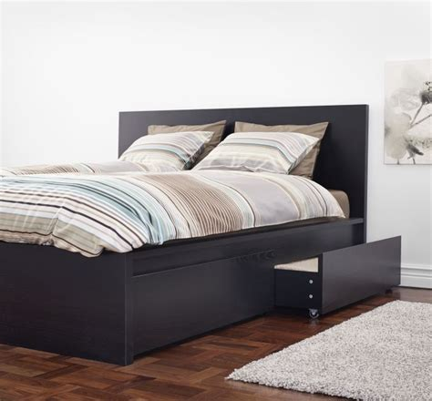 Ikea Malm Bed by Malm Grey Fabric Fit And Storage