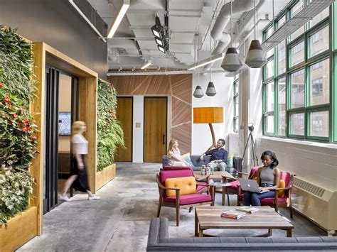 green walls  cool design accent  offices
