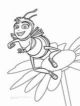 Bee Movie Coloring Pages Drawing Cartoon Bees Movies Colouring Barry Print Benson Sheets Characters Flower Printable Super Printables Recommended Vanessa sketch template