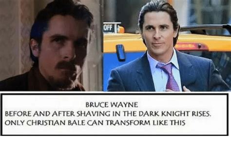 Orf Bruce Wayne Before After Shaving The Dark