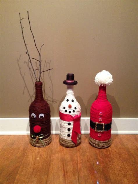 christmas wine bottles merry christmas pinterest
