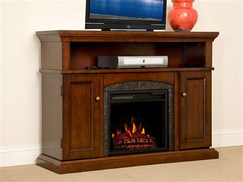 cherry media electric fireplace lynwood 18 quot vintage cherry media console electric