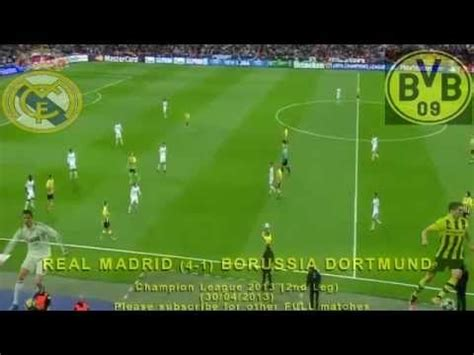 FULL 2nd Leg - Real Madrid vs Borussia Dortmund 2-0 (30/04 ...