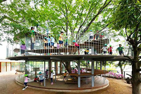 Beautiful Brazilian House Built Up And Around A Tree : Tezuka Architects' Amazing Fuji Kindergarten Wraps Around