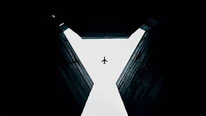 Sky Plane Building Dark Bottom Gap Walls