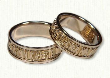 custom love inspired wedding rings affordable unique