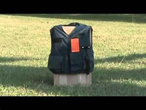 Surplus ballistic vest test - YouTube