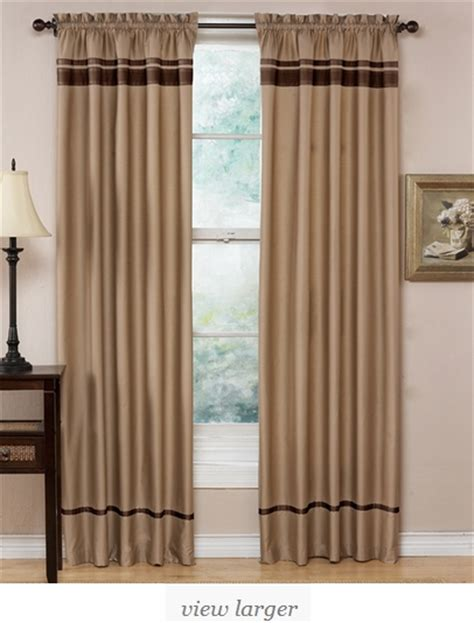 taupe and chocolate spa collection window treatment set