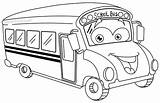 Coloring Bus Cartoon Outlined Sarahtitus Sarah sketch template