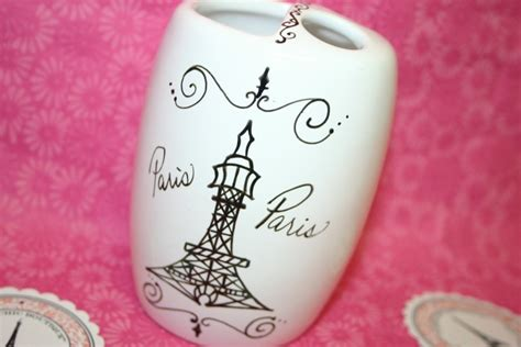 paris themed bathroom accessories eiffel by parischicboutique