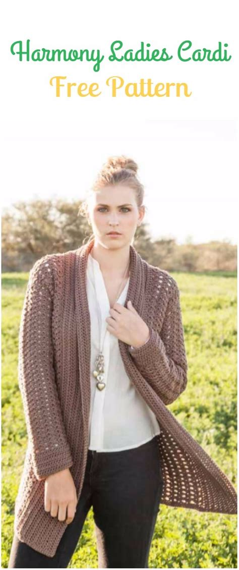 crochet women sweater coat cardigan  patterns