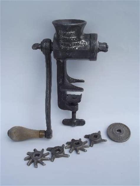 dated 1904 hand crank food chopper meat grinder, Hibbard