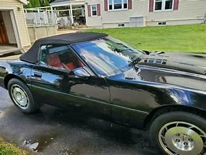 1986 Chevrolet Corvette Convertible Black Rwd Manual