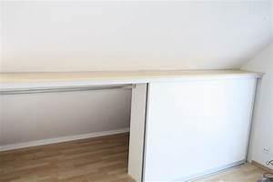 Schiebetüren Für Einbauschrank : einbauschrank vor die dachschr ge gebaut mit kleiderstange dachschr ge pinterest ~ Orissabook.com Haus und Dekorationen