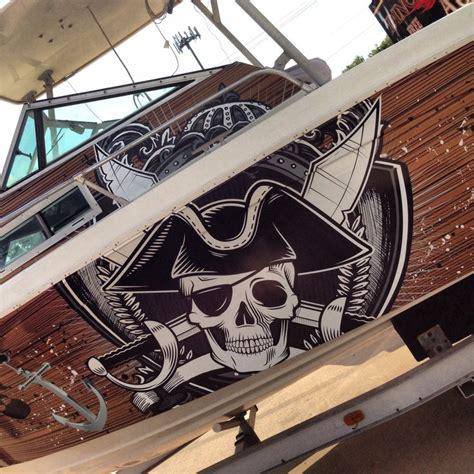 pirate ship boat wrap   corpus christi client boat