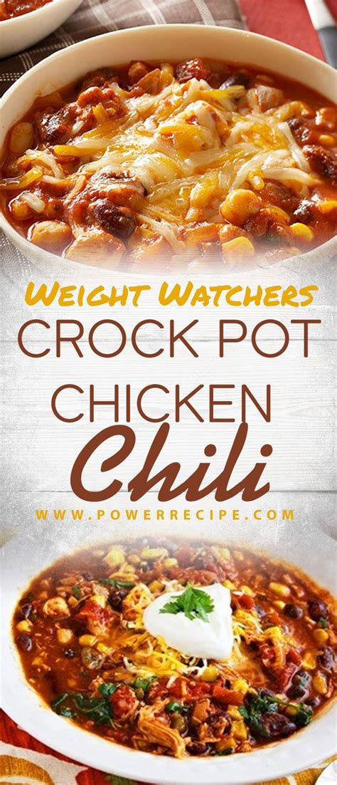 weight watchers crock pot chicken chili
