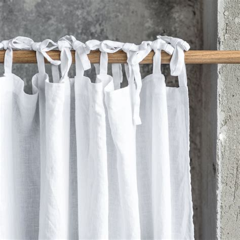 washed white linen curtains linen drapes