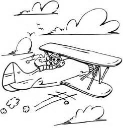 Preschool Airplane Coloring Pages