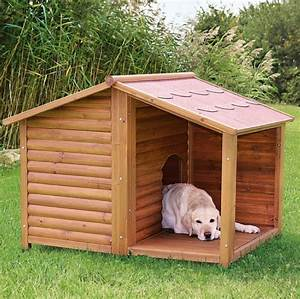 Hundeh tte mit terrasse massiv holz for Hundehütte mit terrasse