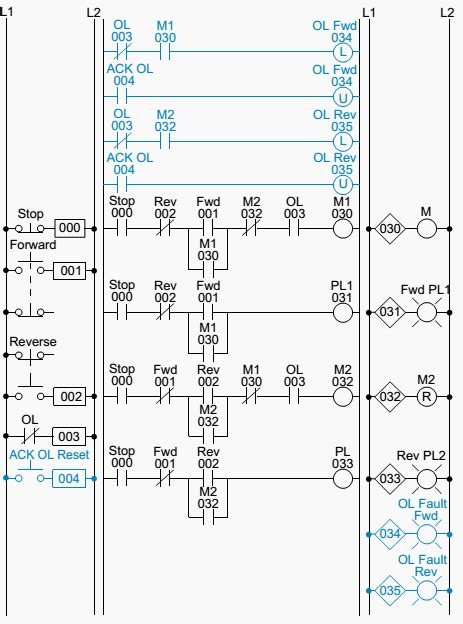 plc implementation of the circuit in figure 1 automation in 2019 ladder logic circuit plc