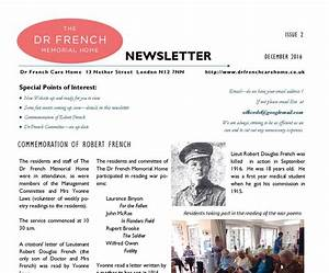 December 2016 Newsletter – The Dr French Memorial Home