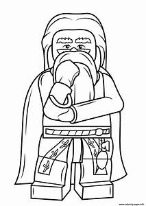 Lego Albus Dumbledore Harry Potter Coloring Pages Printable