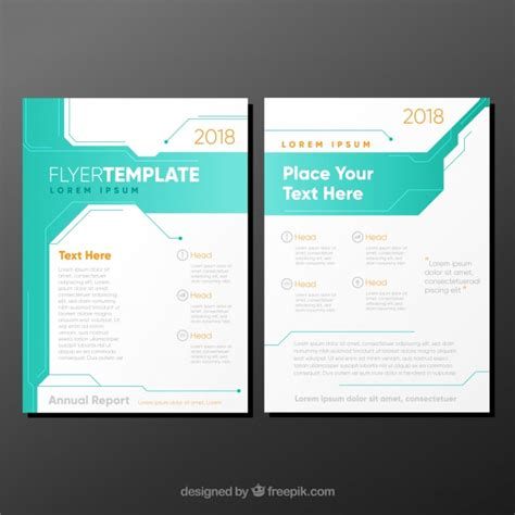 turquoise template white and turquoise business brochure template vector free