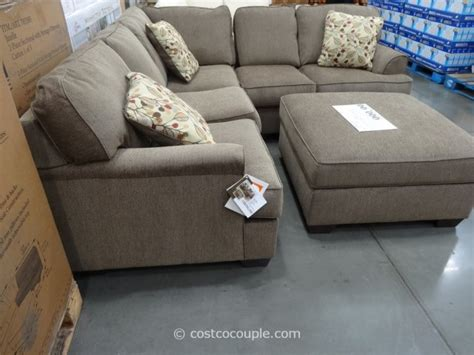 recliner with ottoman costco berkline jaxelle fabric sectional and ottoman