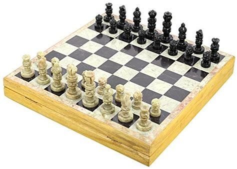 Unique Stone Chess Sets And Board With Storage Box 12