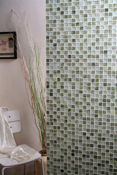 great ideas  sea glass bathroom tile