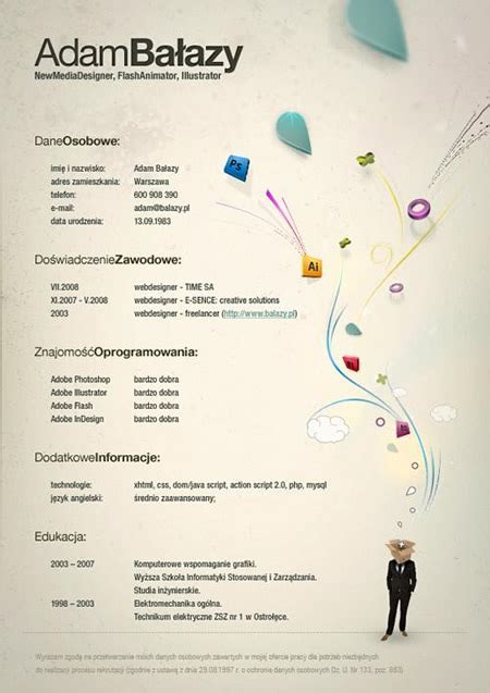 40 beautiful and creative resume design graphic