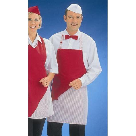 tablier de cuisine uni tablier à bavette uni et rayures