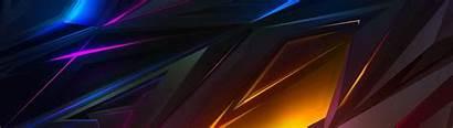 Dark Abstract Dual Monitor 4k Colorful Ultra